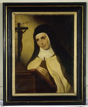 Tableau : portrait de mère Anne de Saint Barthélémy