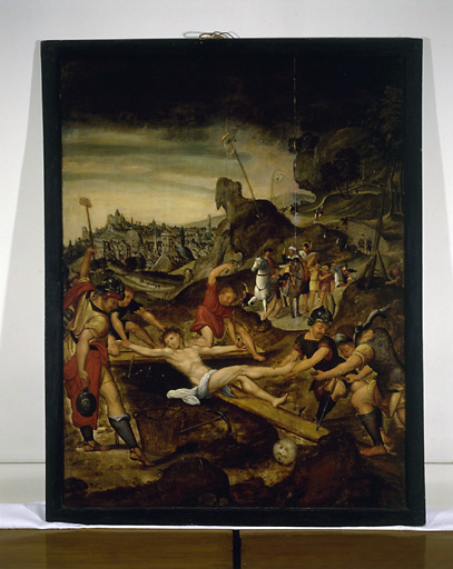 Tableau : Jésus cloué sur la Croix