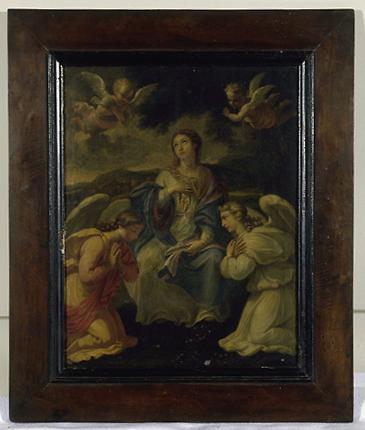 Tableau : Vierge avec l'enfant dans son sein
