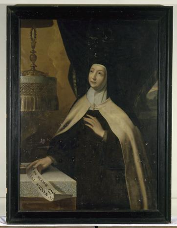 Tableau : portrait de mère Madeleine de saint Joseph
