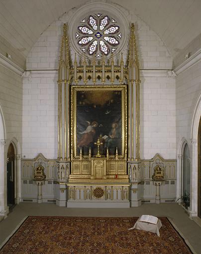 Autel, tabernacle, retable (maître-autel, tabernacle à ailes)