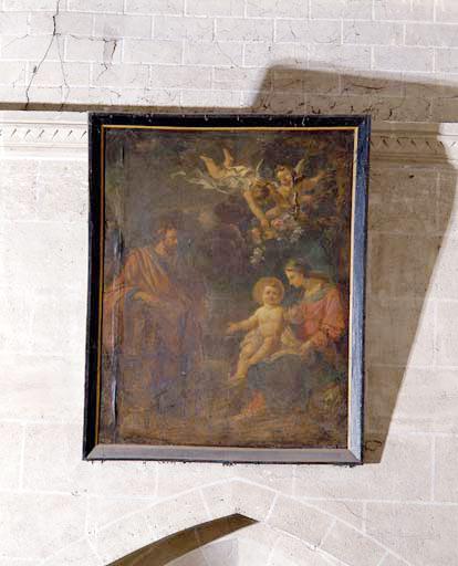 Tableau : la Sainte Famille.