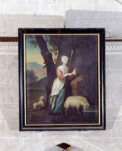 Tableau : sainte Geneviève.