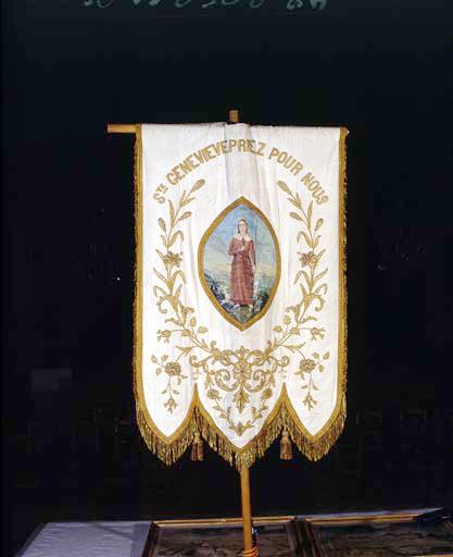 Bannière de procession : sainte Geneviève.
