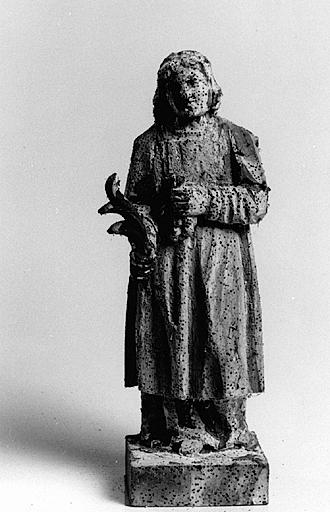 Bâton de procession (bâton de confrérie) : saint Vincent.