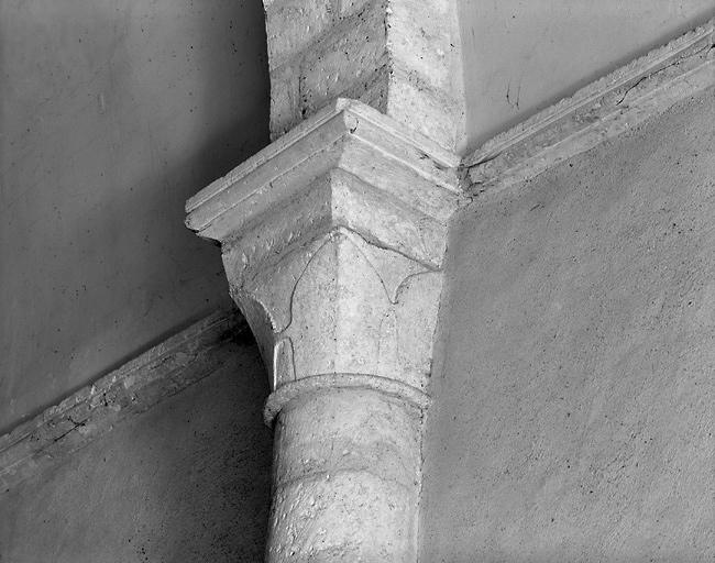 ensemble de 6 chapiteaux de la nef