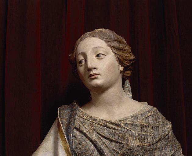groupe sculpté (grandeur nature) : le mariage de la Vierge