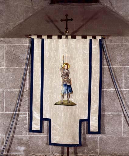 Bannière de procession : Sainte Jeanne d'Arc