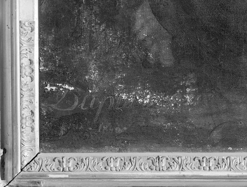 Tableau et cadre : Agonie du Christ au Jardin des oliviers