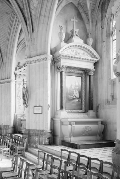 Autel secondaire du Bienheureux Père Daniel Brottier (autel, degré d'autel, 2 gradins d'autel, retable)