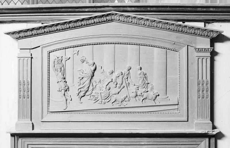bas-relief : Expulsion des marchands du temple