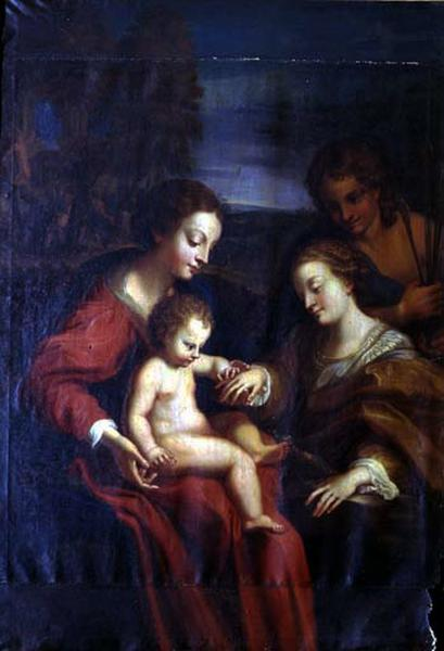 Tableau : Mariage mystique de Sainte Catherine d'Alexandrie
