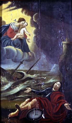 Tableau ex-voto : La Vierge apparaissant à un naufragé