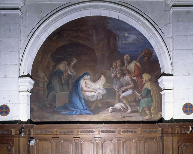 Ensemble de 14 peintures monumentales de la chapelle saint Joseph