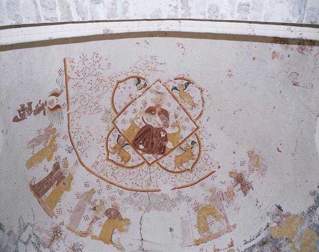 peinture monumentale Christ en Majesté ; Vie de saint Jean Baptiste ; Baptême du Christ