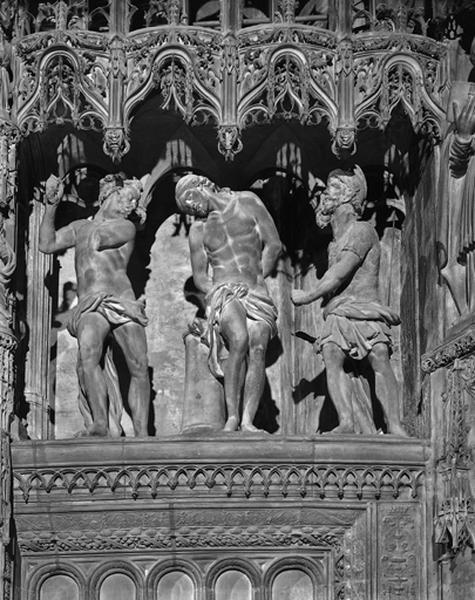 Groupe sculpté : Flagellation du Christ