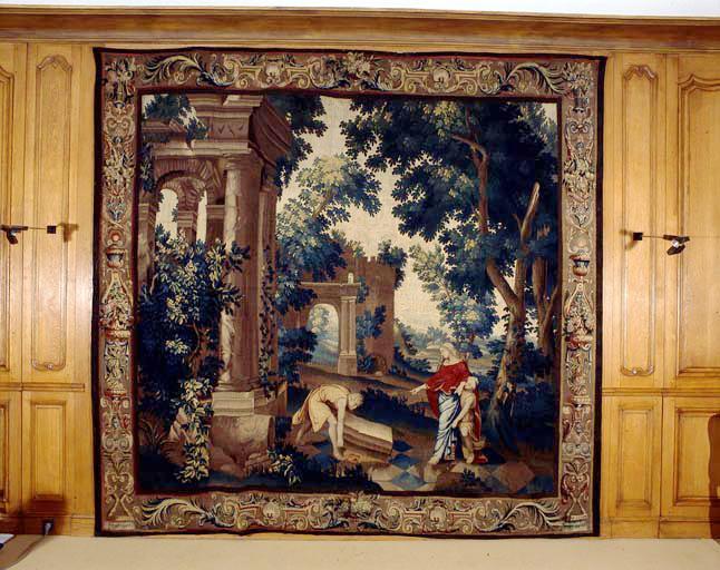 pièce murale : Thésée retrouve les armes de son père