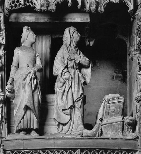 groupe sculpté : Annonce de la naissance de la Vierge à Anne