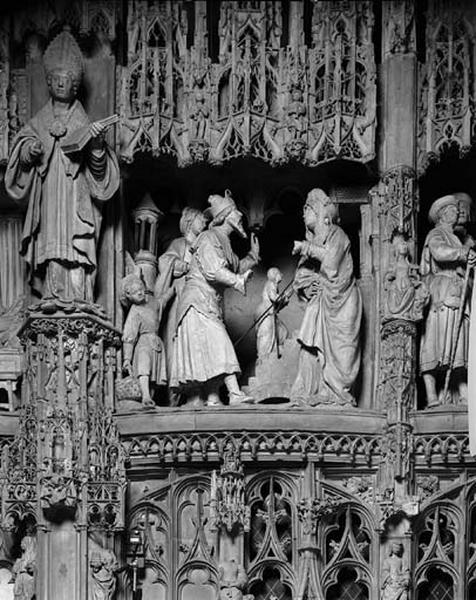 groupe sculpté : Présentation de la Vierge au Temple