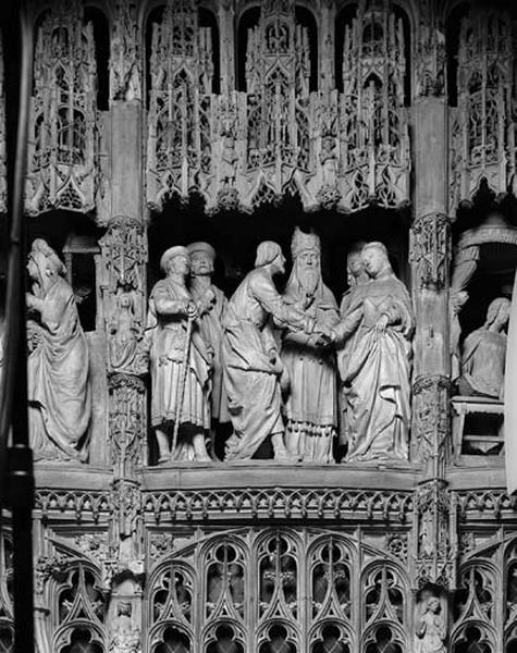 groupe sculpté : Mariage de la Vierge
