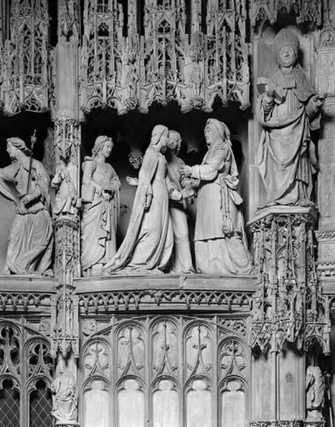 groupe sculpté : Visitation