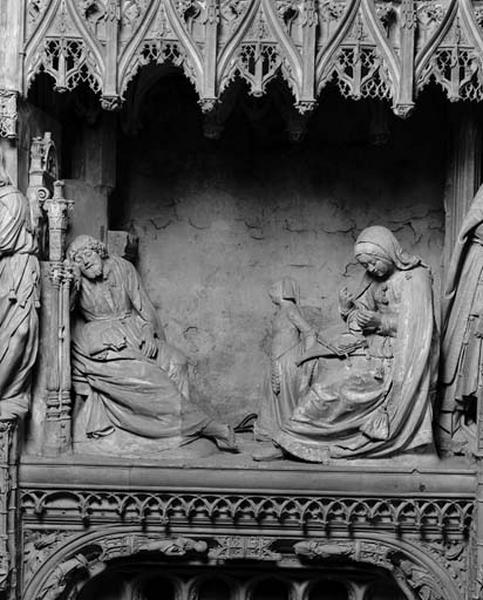 groupe sculpté : le Songe de Joseph