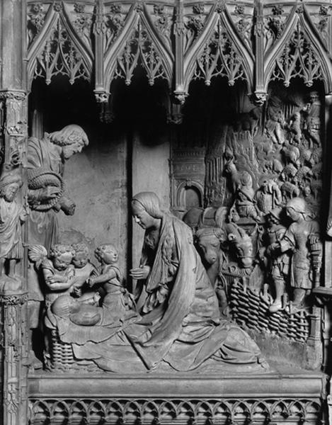 groupe sculpté : Nativité