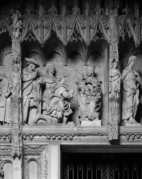 groupe sculpté : Adoration des Mages