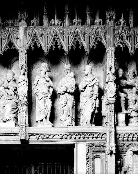 groupe sculpté : Présentation au Temple