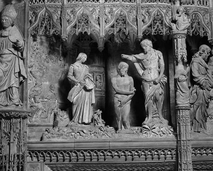 groupe sculpté : Baptême du Christ