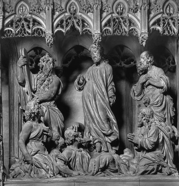 groupe sculpté : Transfiguration