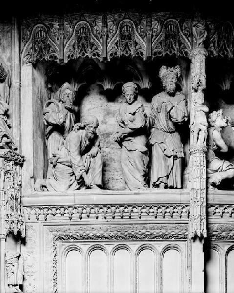groupe sculpté : La Femme adultère