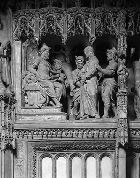 Groupe sculpté : Jésus devant Pilate