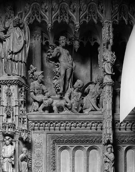 Groupe sculpté : Résurrection du Christ
