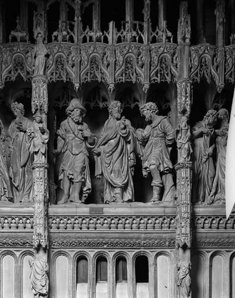 Groupe sculpté : Pèlerins d'Emmaüs