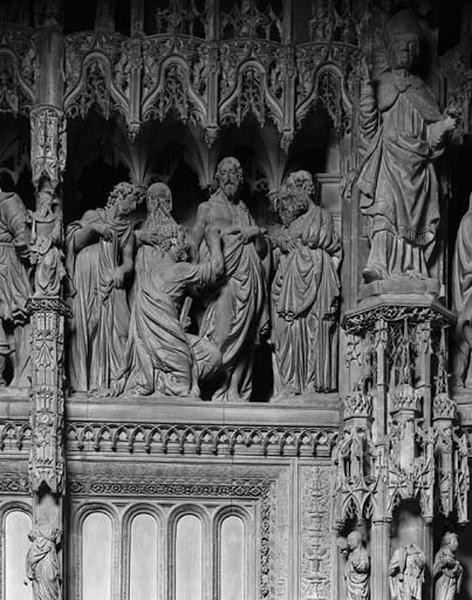 groupe sculpté : Apparition à Thomas