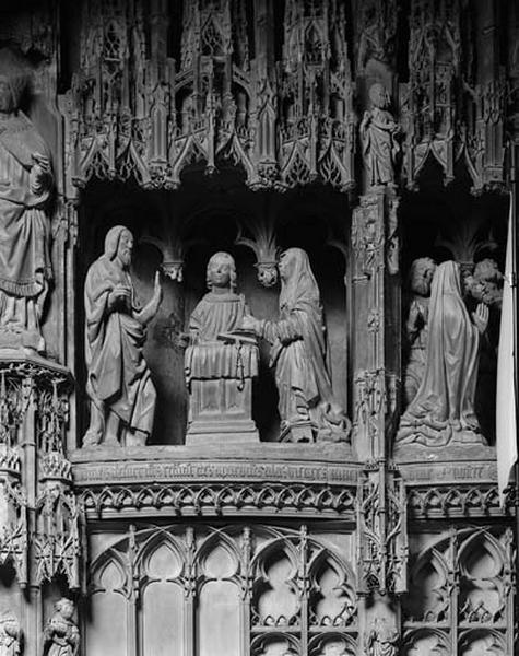 groupe sculpté : Apparition à Marie