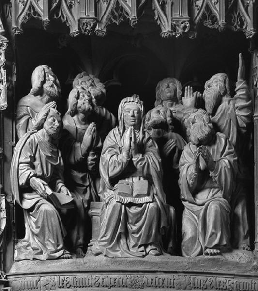 Groupe sculpté : Pentecôte