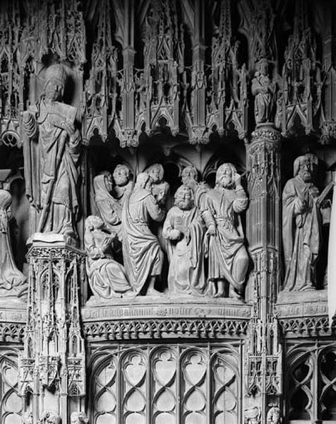 groupe sculpté : Mort de la Vierge