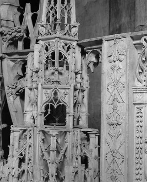 ensemble des dais d'architecture dits baldaquins du Tour du choeur