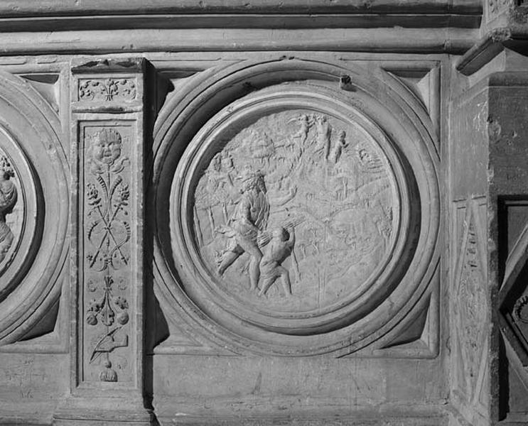 médaillon : Sacrifice d'Abraham