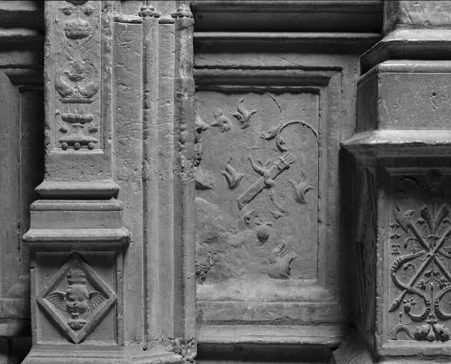 bas-relief : Homme à l'antique ou empereur romain