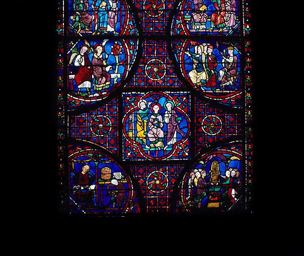 Verrière : Histoire de saint Etienne (baie 13)