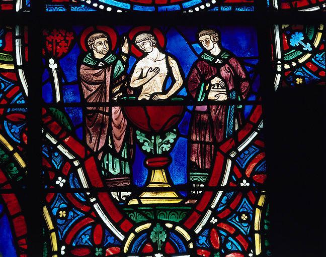 Verrière : Histoire de saint Pantaléon (baie 11)