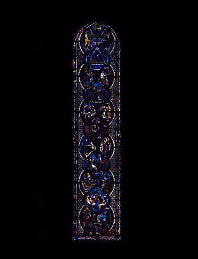 Verrière : Histoire de saint Jean l'Evangéliste (baie 48)