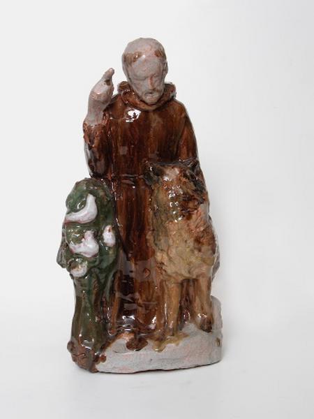 statuette : saint François d'Assise parlant aux animaux