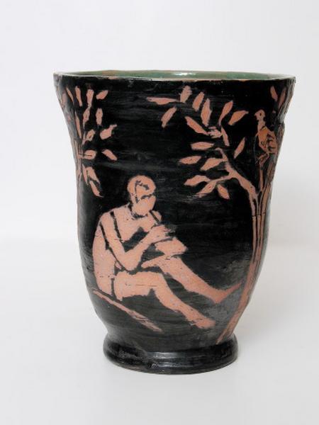 vase décoratif : joueur de pipeau