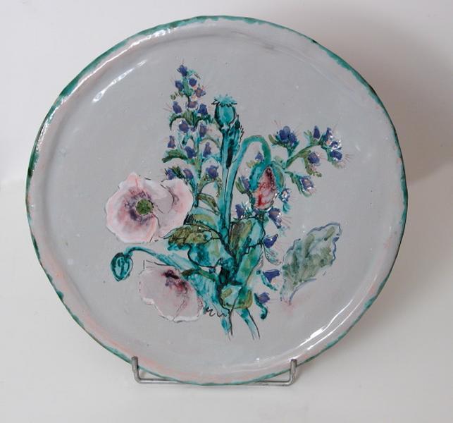 plat décoratif : fleurs des champs