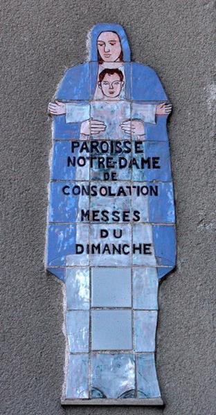 ensemble de 2 panneaux muraux : Notre-Dame de Consolation