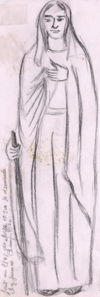 dessin : Vierge de la Visitation
